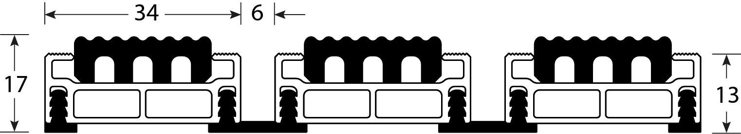Romat Rubber 17 Mm Tekening
